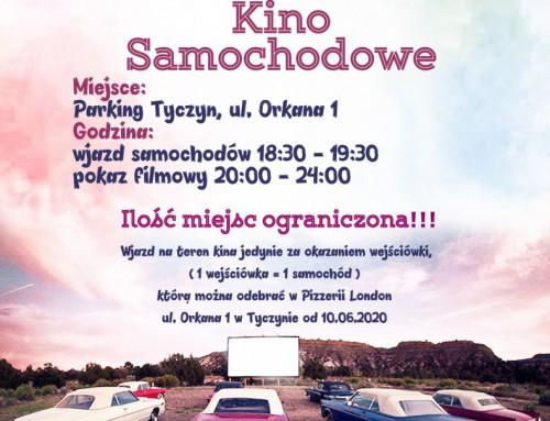Kino samochodowe w ramach Dni Tyczyna – 21.06.2020r.