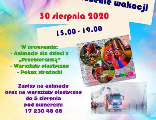 Zakończenie wakacji w Domu Ludowym w Hermanowej – 30.08.2020r.