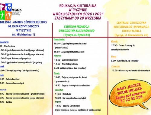 Harmonogram Zajęć – Edukacja Kulturalna w Tyczynie